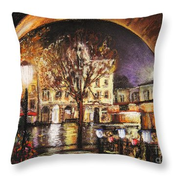 Cieszyn At Night Throw Pillow
