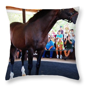 Cigar A Legendary Horse Throw Pillow