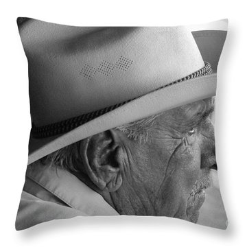 Cigar Maker Remembering His Past Throw Pillow by Rene Triay Photography