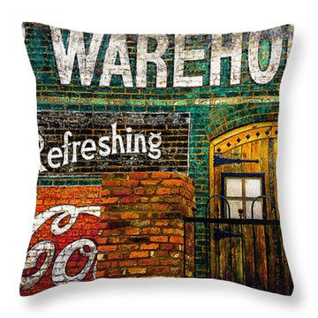 Cigar Warehouse Throw Pillow