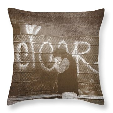 Cigars Only Throw Pillow