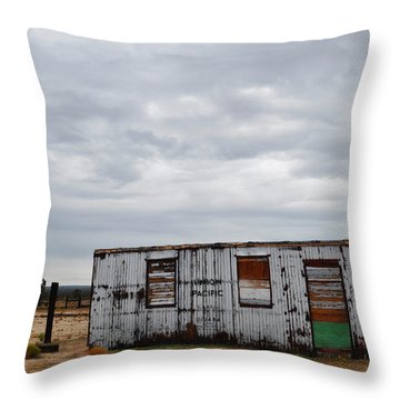 Cima Union Pacific Railroad Station Throw Pillow