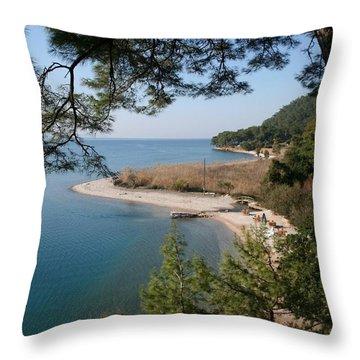 Throw Pillow featuring the photograph Cinar Beach by Tracey Harrington-Simpson