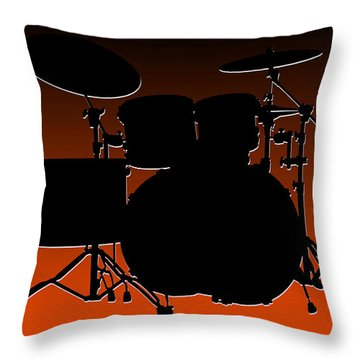 Cincinnati Bengals Drum Set Throw Pillow by Joe Hamilton