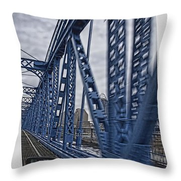 Cincinnati Bridge Throw Pillow