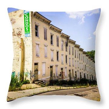 Cincinnati Glencoe-auburn Row Houses Picture Throw Pillow by Paul Velgos