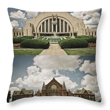 Cincinnati Icons Throw Pillow
