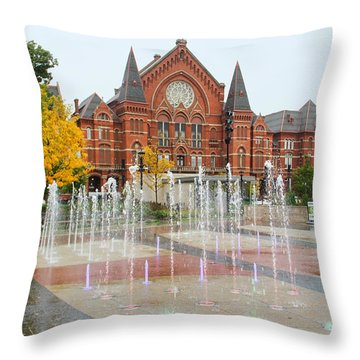 Cincinnati Music Hall 0001 Throw Pillow