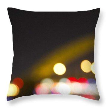 Cincinnati Night Lights Throw Pillow by Daniel Sheldon