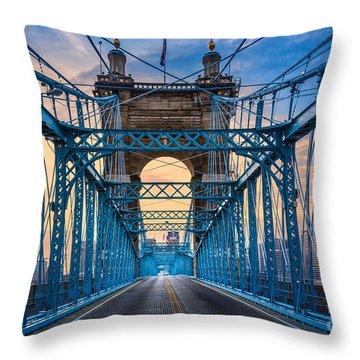 Cincinnati Suspension Bridge Throw Pillow