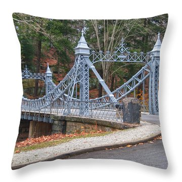 Cinderella Bridge Throw Pillow by Guy Whiteley