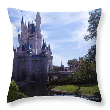 Cinderella Castle Throw Pillow by Roger Wedegis