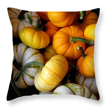 Cinderella Pumpkin Pile Throw Pillow