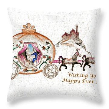 Cinderella Wedding Message Throw Pillow