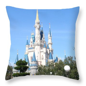 Cinderella's Castle - Disney World Orlando Throw Pillow