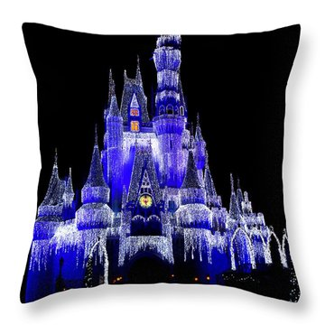 Throw Pillow featuring the photograph Cinderella's Castle by Laurie Perry