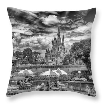 Throw Pillow featuring the photograph Cinderella's Palace by Howard Salmon