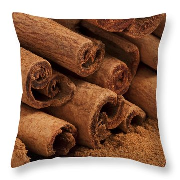 Cinnamon Sticks 2 Throw Pillow by John Brueske