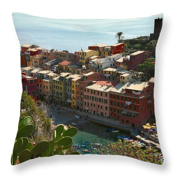 Cinque Terra Vernazza Throw Pillow