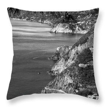 Cinque Terre Coastline Throw Pillow