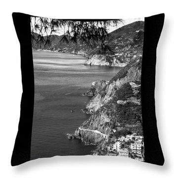 Cinque Terre Coastline Throw Pillow