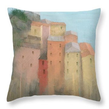 Cinque Terre Throw Pillow by Steve Mitchell
