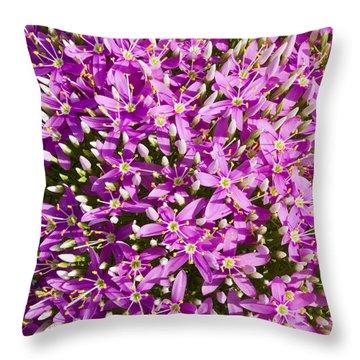 Centrifugal Mountain Pink Flowers Throw Pillow