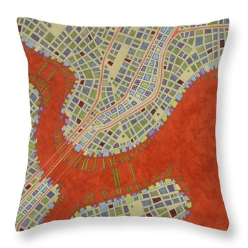 Cipher N. 14 Throw Pillow by Federico Cortese