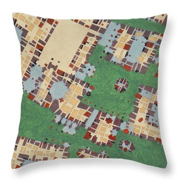 Cipher N. 15 Throw Pillow by Federico Cortese