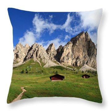 Throw Pillow featuring the photograph Cir Group - Gardena Pass by Antonio Scarpi