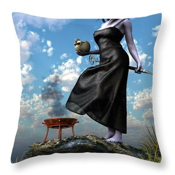 Throw Pillow featuring the digital art Circe by Kaylee Mason