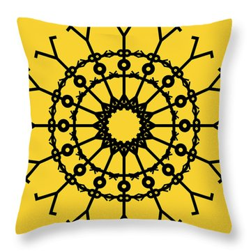 Circle 2 Icon Throw Pillow by Thisisnotme