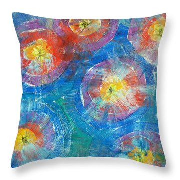 Circle Burst Throw Pillow