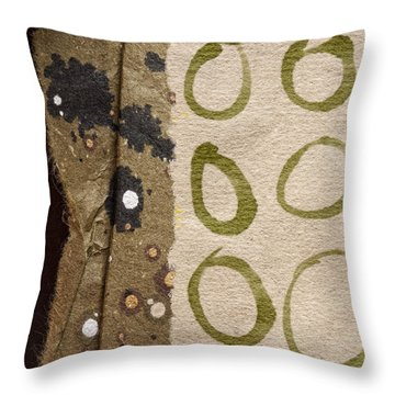 Circle Collage Throw Pillow