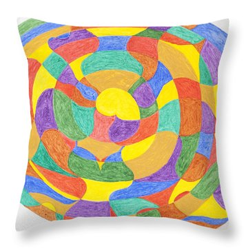 Throw Pillow featuring the painting Life Cycles by Stormm Bradshaw