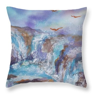 Circle Of Power Throw Pillow by Ellen Levinson