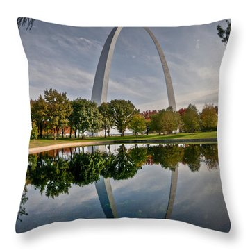 Throw Pillow featuring the photograph Circle Of Reflection by Deborah Klubertanz