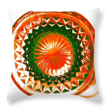 Circle Orange Throw Pillow by Anita Lewis