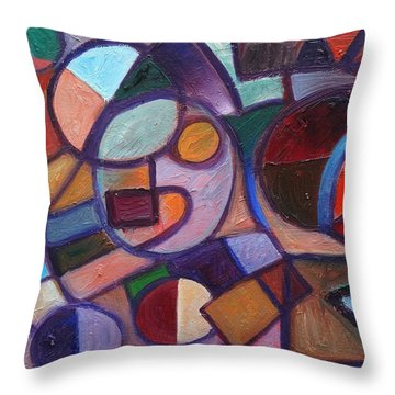 Circle Speaker Throw Pillow by Jason Williamson