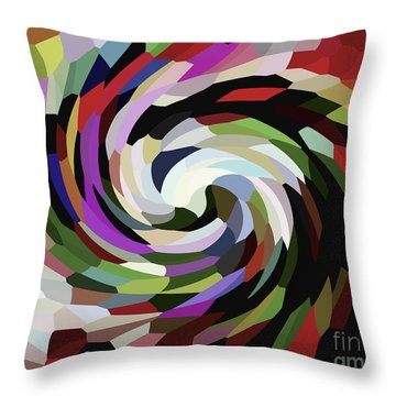 Circled Car Throw Pillow