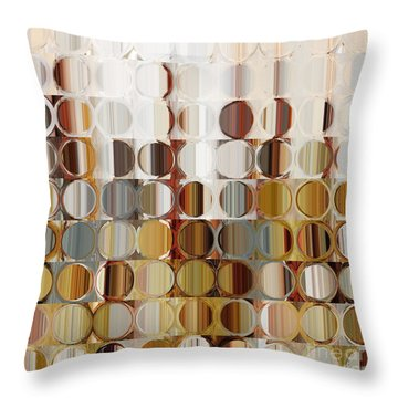 Circles And Squares 36. Modern Abstract Fine Art Throw Pillow by Mark Lawrence