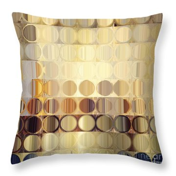 Circles And Squares 37. Modern Abstract Fine Art Throw Pillow by Mark Lawrence