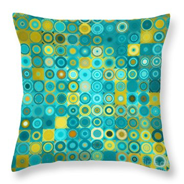 Circles And Squares 6. Modern Home Decor Art Throw Pillow