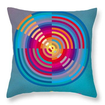Throw Pillow featuring the painting Circles by David Klaboe