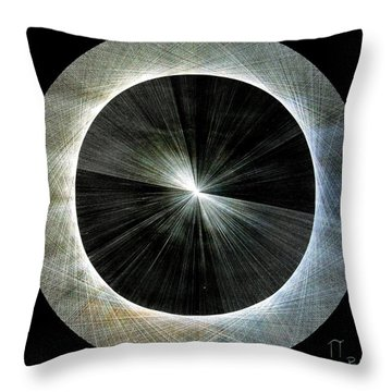 Throw Pillow featuring the drawing Circles Do Not Exist 720 The Shape Of Pi by Jason Padgett