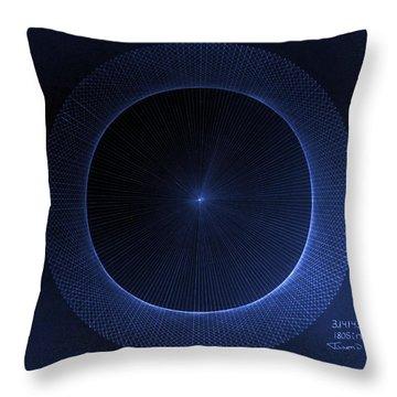 Circles Don't Exist Pi 180 Throw Pillow