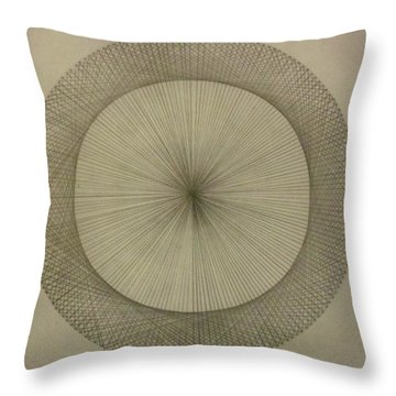 Throw Pillow featuring the drawing Circles Don't Exist Two Degree Frequency by Jason Padgett
