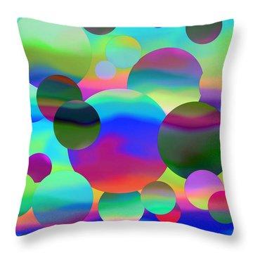 Throw Pillow featuring the digital art Circles by Elizabeth Budd