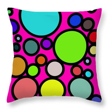 Circles Galore Throw Pillow