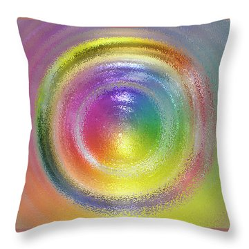 Circles Throw Pillow by Geraldine Alexander